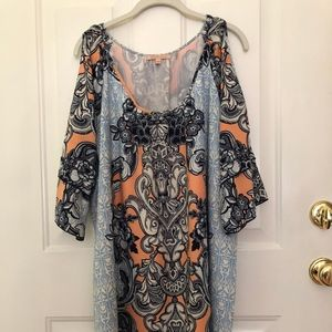 Gibson Latimer Cold Shoulder dress Size L